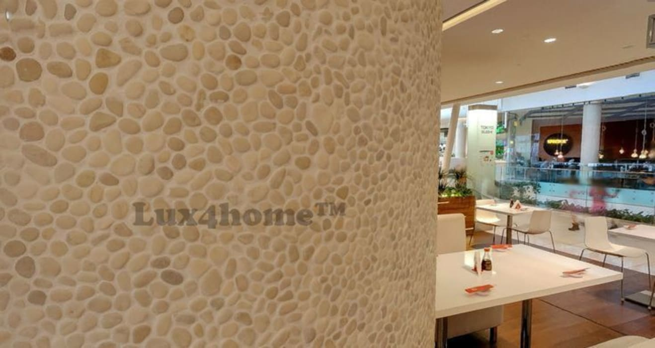 Kremowe Otoczaki na ścianie od Lux4home™: styl , w kategorii Ściany zaprojektowany przez Lux4home™