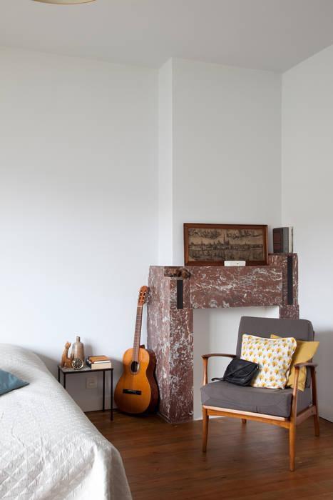 detail slaapkamer:  Slaapkamer door studio k, Modern