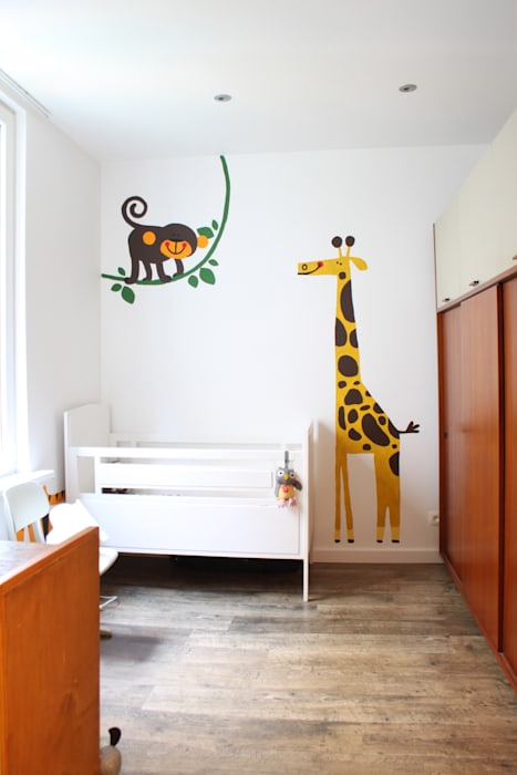 kinderkamer:  Kinderkamer door studio k, Modern