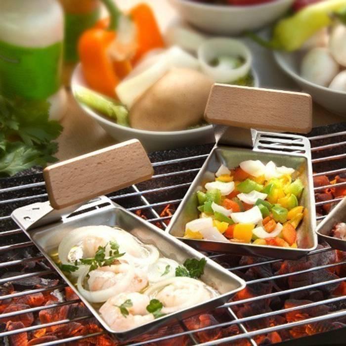 2 petites poêles pour le barbecue: Jardin de style de style eclectique par IdéeCadeau.fr