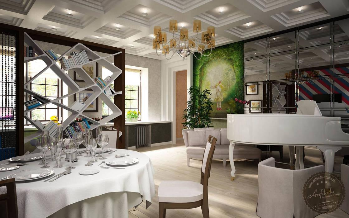 Koloniale Wohnzimmer von Anfilada Interior Design Kolonial