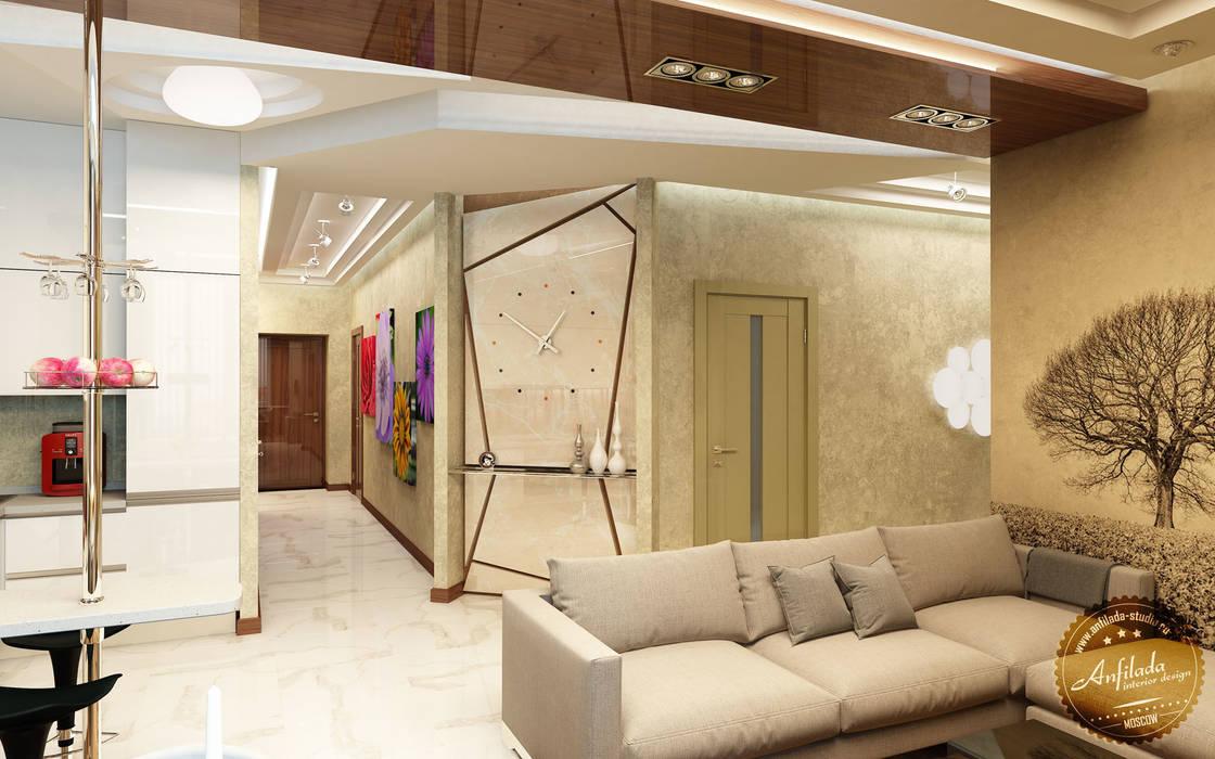 Стильная кухня в едином пространстве: Столовые комнаты в . Автор – Anfilada Interior Design, Эклектичный