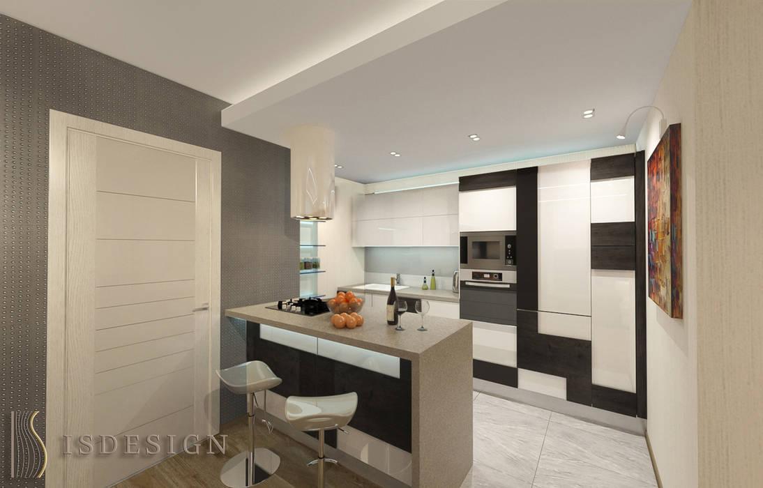 Гостиная - зона кухни: Гостиная в . Автор – ISDesign group s.r.o.,