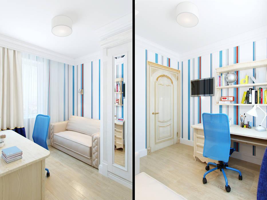 Dormitorios infantiles de estilo ecléctico de Студия дизайна интерьера Маши Марченко Ecléctico