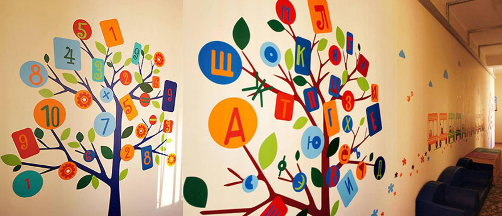 оформление детского садика в микрорайоне Некрасовка, Москва: Школы и учебные заведения  в . Автор – 33dodo,
