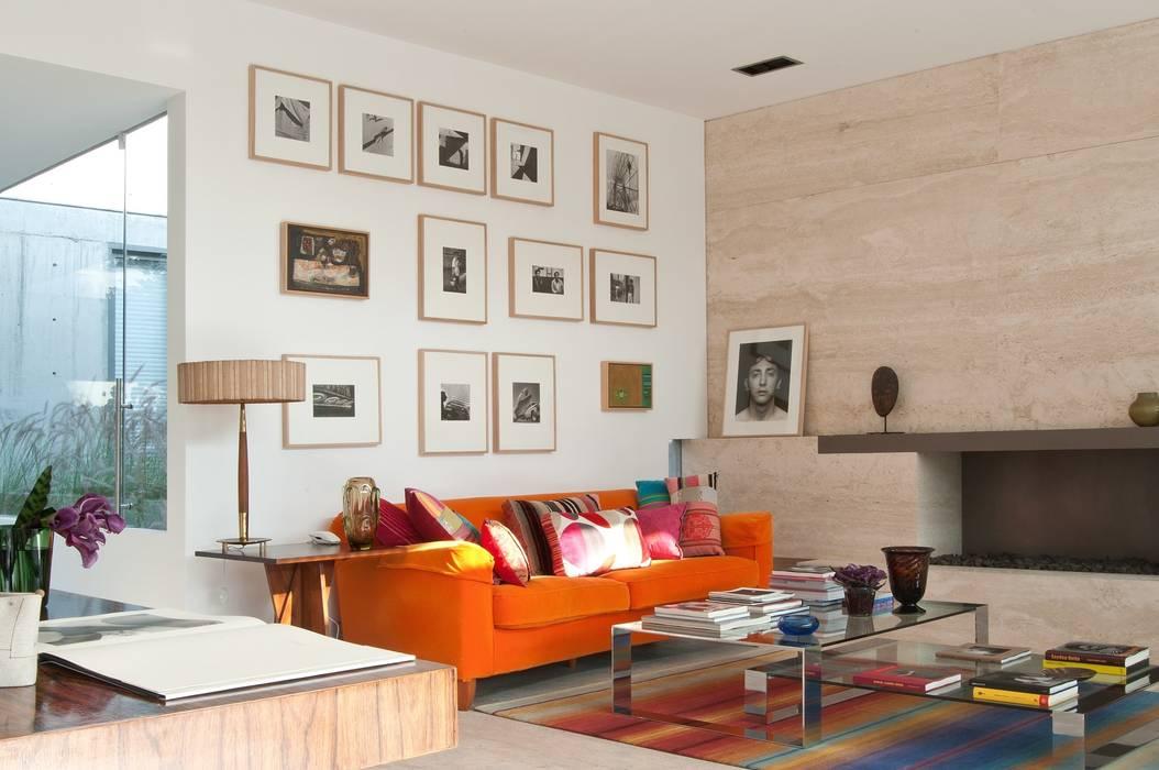 Polanco Penthouse Ruang Keluarga Modern Oleh Gantous Arquitectos Modern