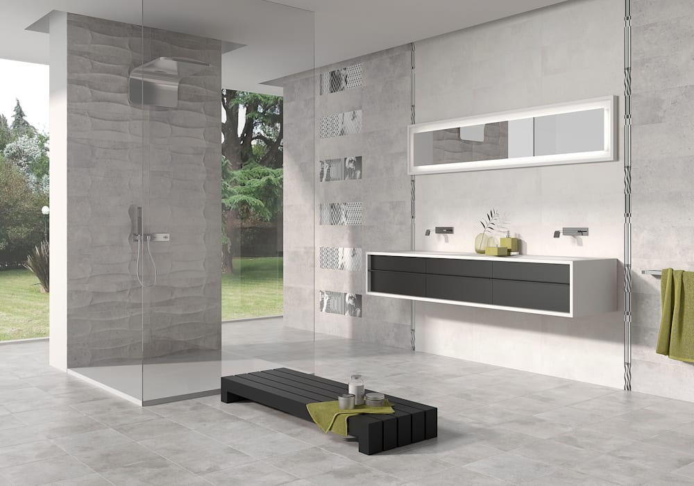 Minimalist style bathroom by Azulev Minimalist