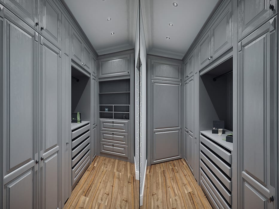 Студия дизайна интерьера Маши Марченко Eclectic style dressing room