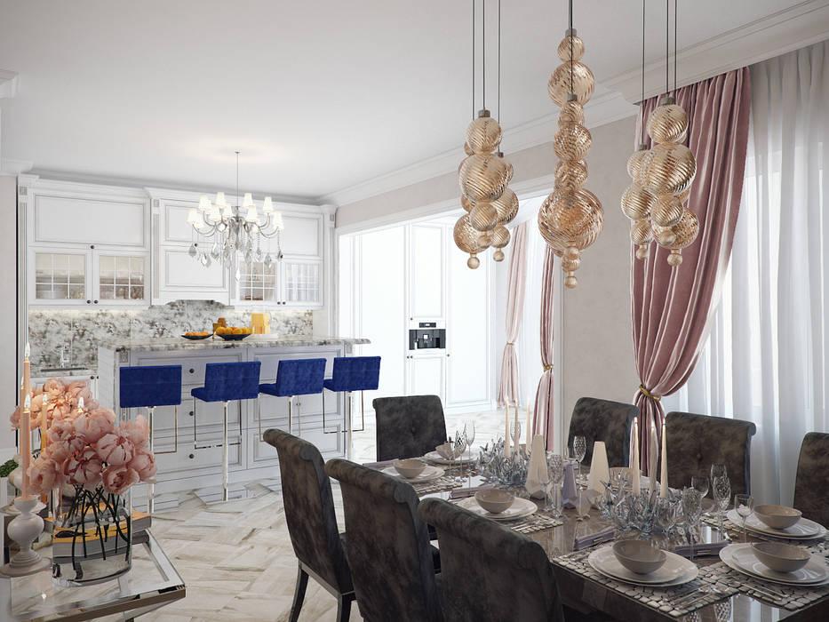 Студия дизайна интерьера Маши Марченко Eclectic style kitchen