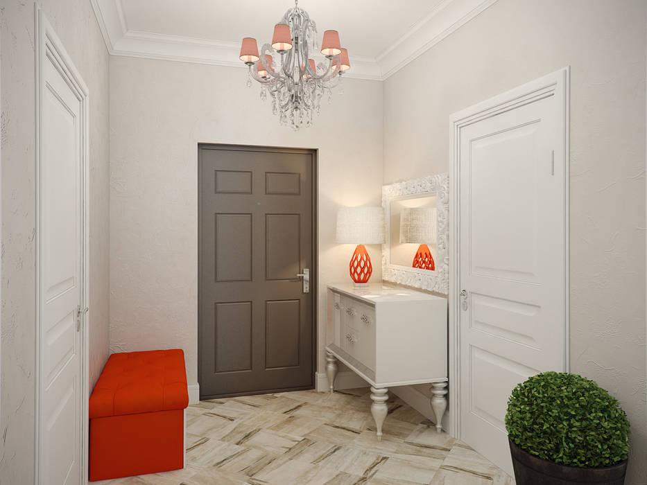 Студия дизайна интерьера Маши Марченко Eclectic style corridor, hallway & stairs