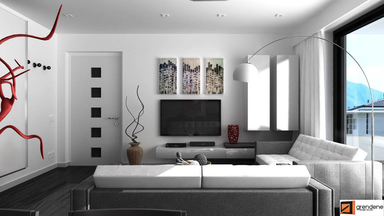 Vista soggiorno unità 1: Soggiorno in stile in stile Moderno di Grendene Design