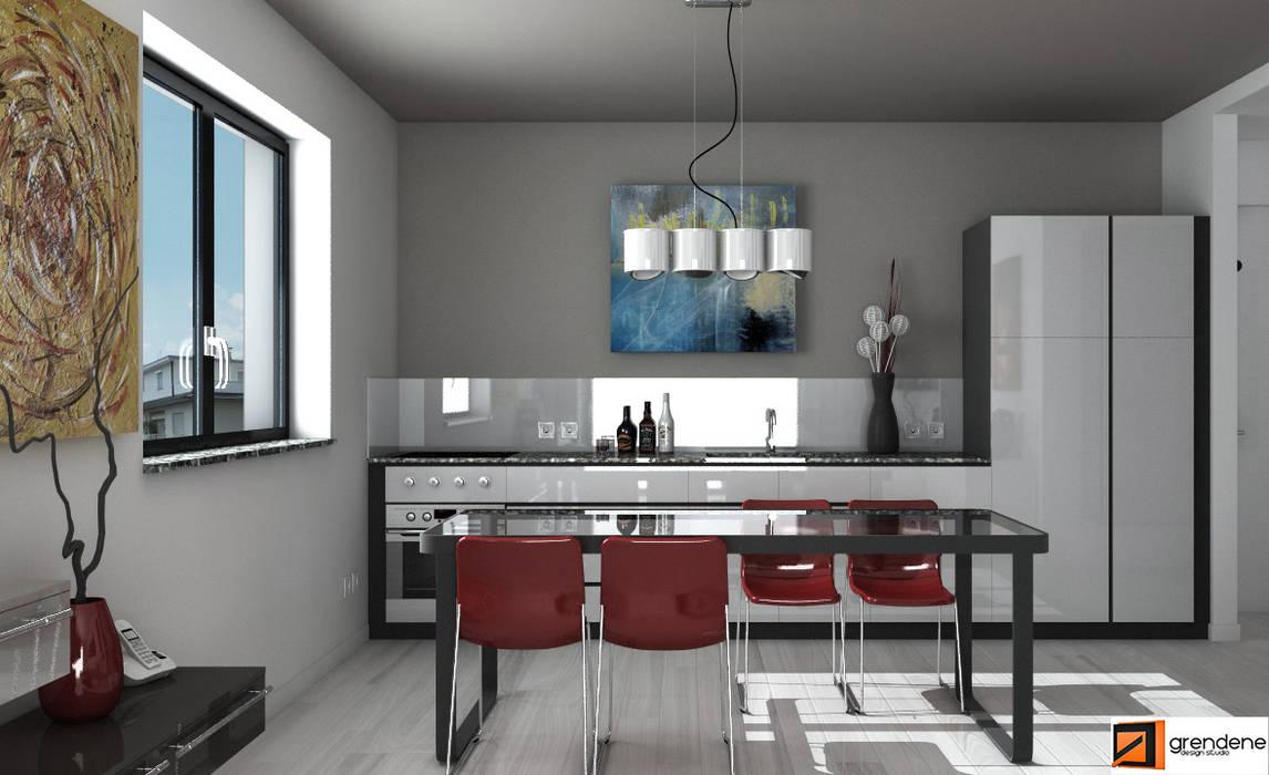 Vista cucina unità 2: Cucina in stile in stile Moderno di Grendene Design