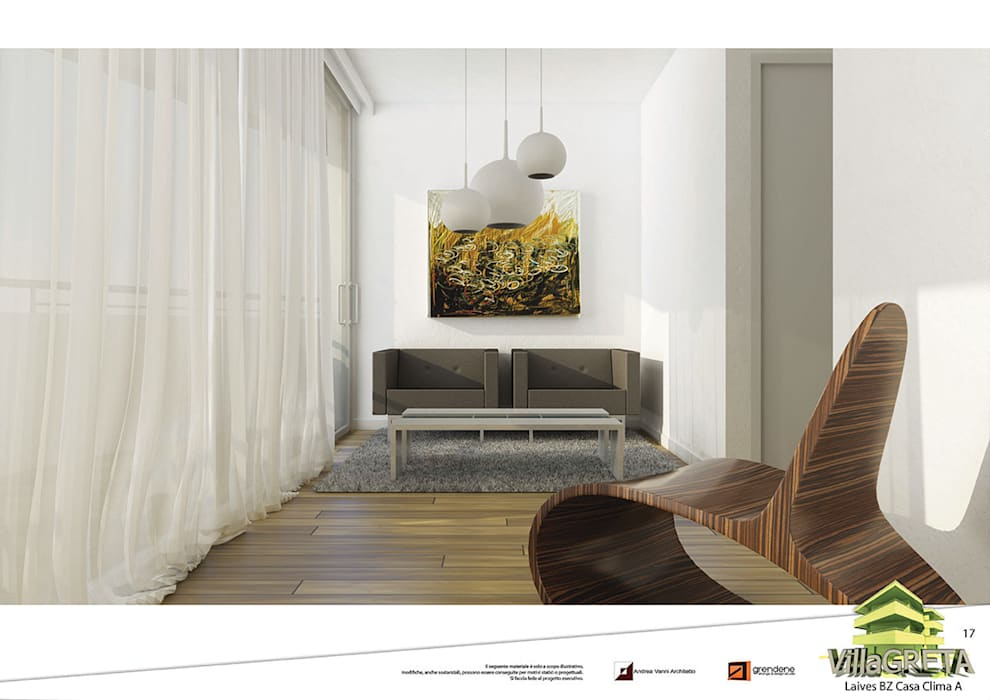 Vista studio unità 1: Studio in stile in stile Moderno di Grendene Design