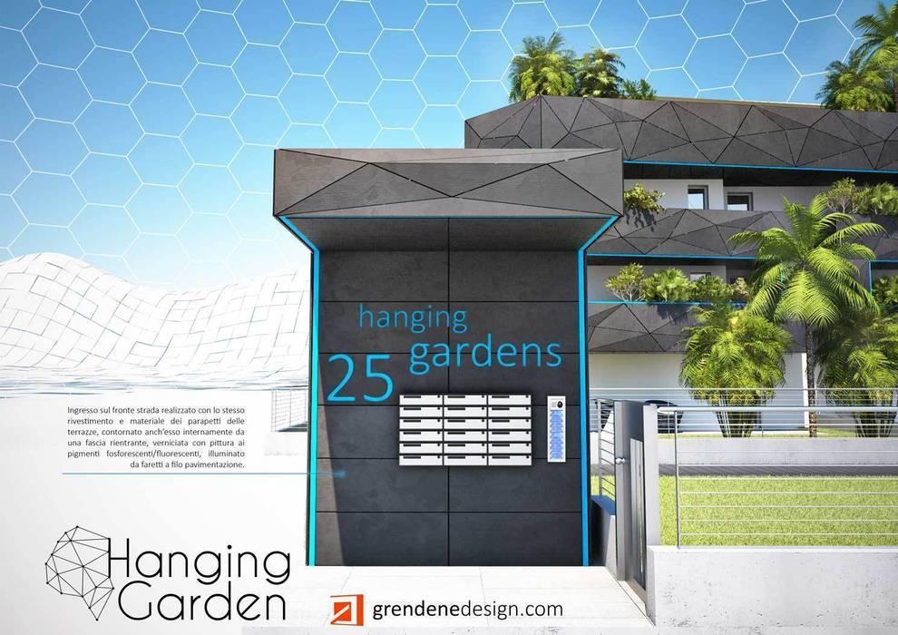 Vista ingresso su strada: Case in stile in stile Moderno di Grendene Design