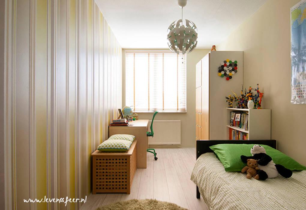 Jongenskamer met groen en grijs:  Kinderkamer door Levenssfeer