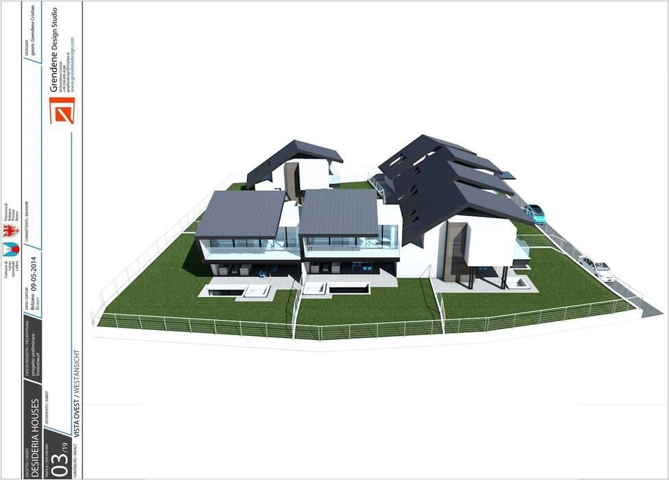 Vista esterna: Case in stile in stile Moderno di Grendene Design