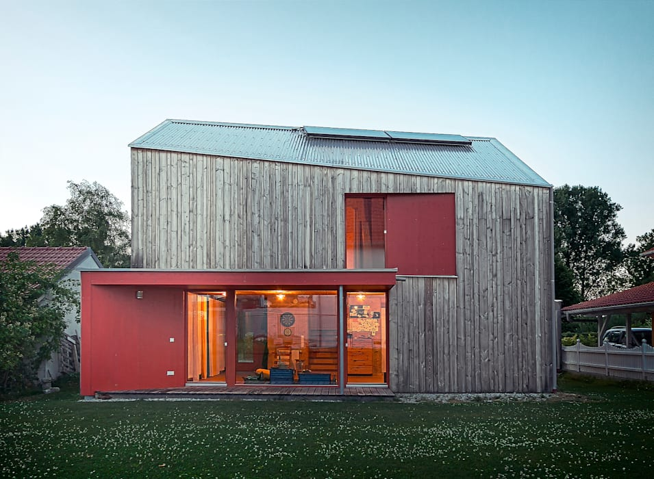 Casas de estilo  por ArchitekturWerkstatt Vallentin GmbH, Escandinavo
