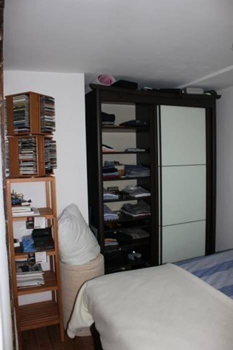 Appartement Pastourelle - Chambre avant projet: Chambre de style de style Moderne par * aurelie.rubin-chabrier . architecture . architecture intérieure .