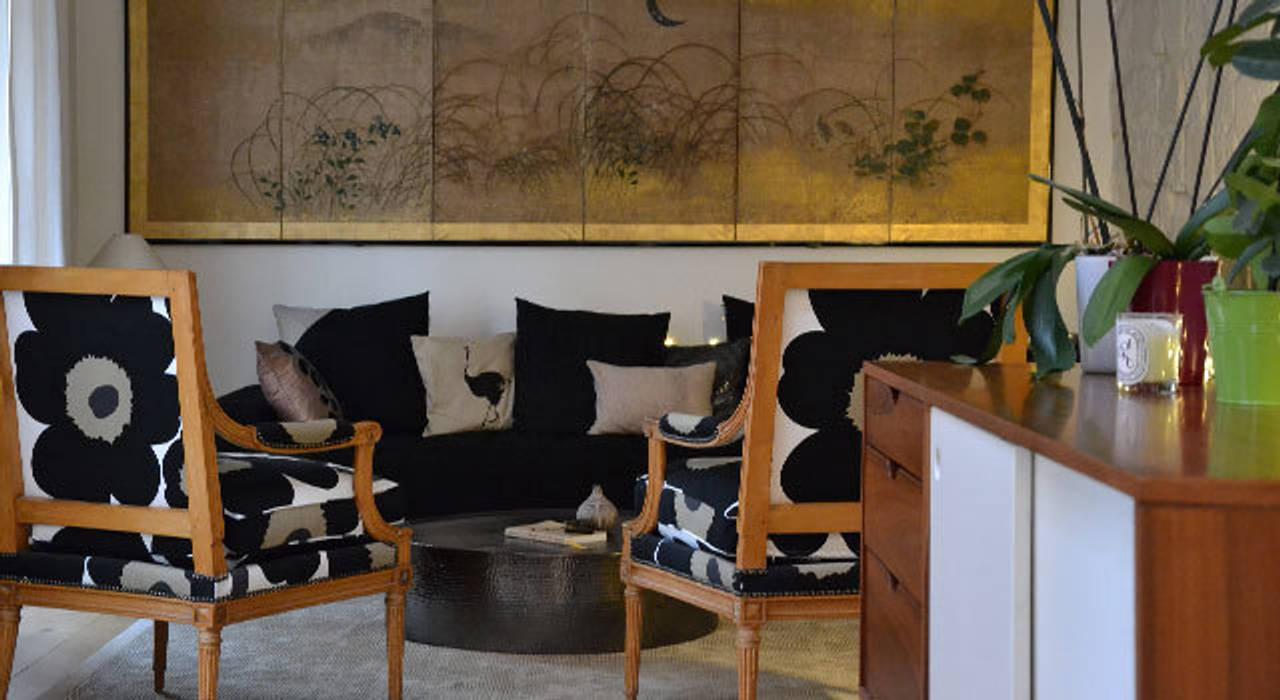 Salon - Maison Paris 15e: Salon de style  par A comme Archi