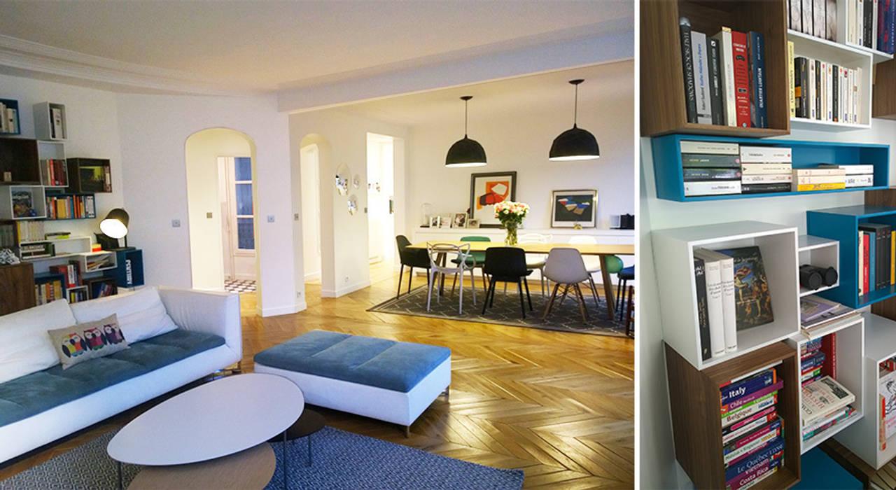 Séjour / salle à manger - Appartement paris 17e: Salle à manger de style  par A comme Archi