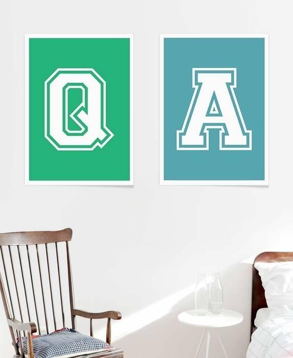 A and q poster minimalistische schlafzimmer von juniqe ...