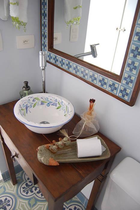 Banheiro Cobertura: Banheiros  por AWDS Arquitetura e Design de Interiores,Rústico