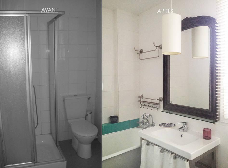 Une salle de bain pleine de charme • Houilles 78 par Agnès Dandine - Chichichic
