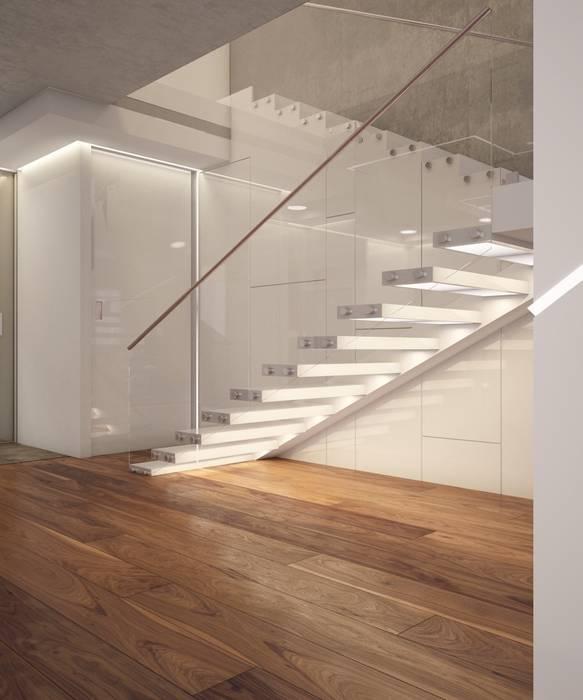 Couloir et hall d'entrée de style  par E_interior, Minimaliste