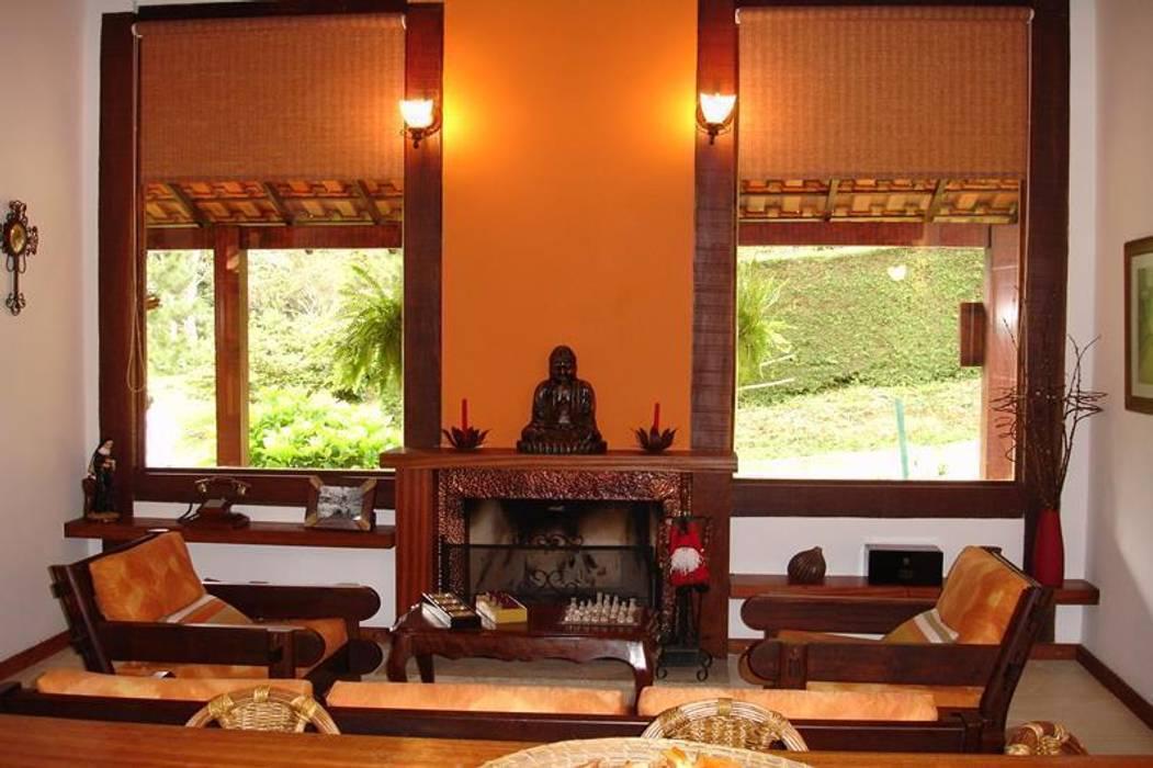 Casa de Campo em Araras Salas de estar rústicas por Cadore Arquitetura Rústico
