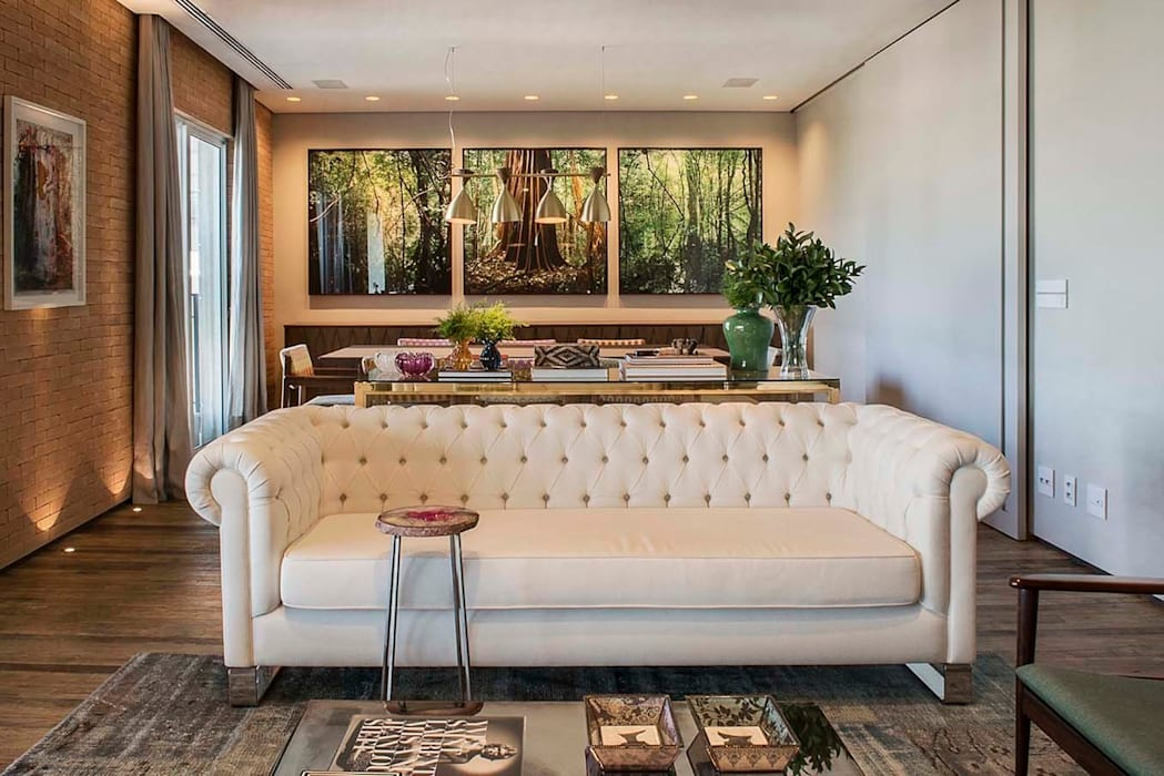 Apartamento Cidade Jardim Salas de estar modernas por Triplex Arquitetura Moderno