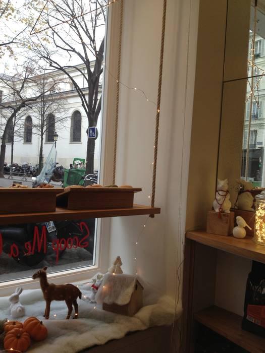 Scoop Me A Cookie - 72 Rue Legendre (75017): Espaces commerciaux de style  par Agathe Convert, Création d 'Interieurs