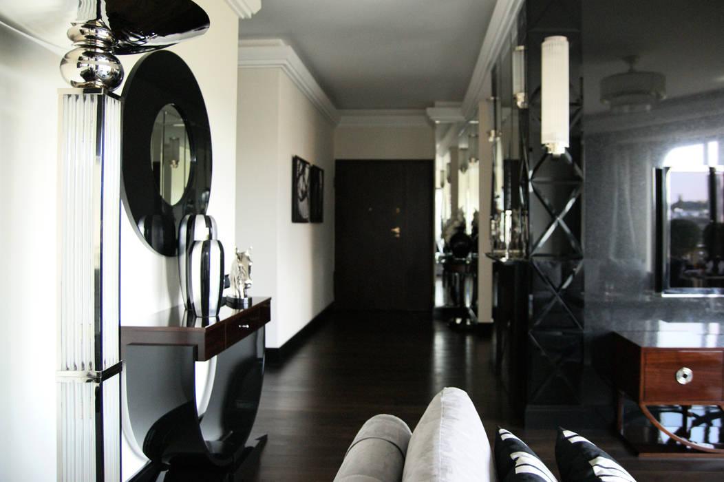 Couloir, entrée, escaliers classiques par Pracownia Projektowa Pe2 Classique