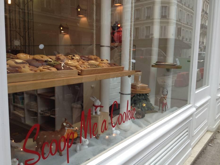 Scoop Me A Cookie - 72 rue Legendre ( 75017): Espaces commerciaux de style  par Agathe Convert, Création d 'Interieurs
