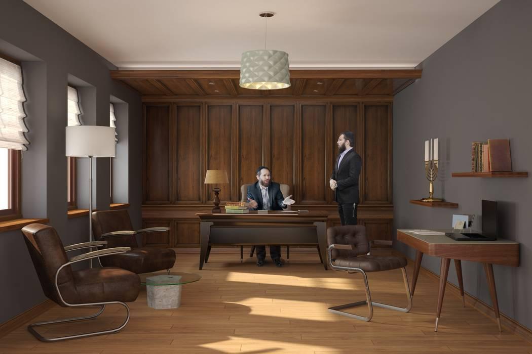 Кабинет руководителя: Офисные помещения в . Автор – Line In Design