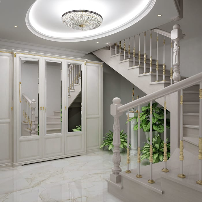 Classic style corridor, hallway and stairs by Частный дизайнер Classic