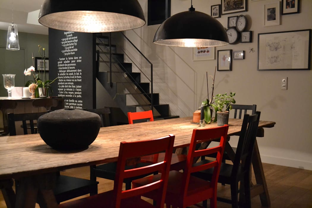 Courants Libres Industrial style dining room