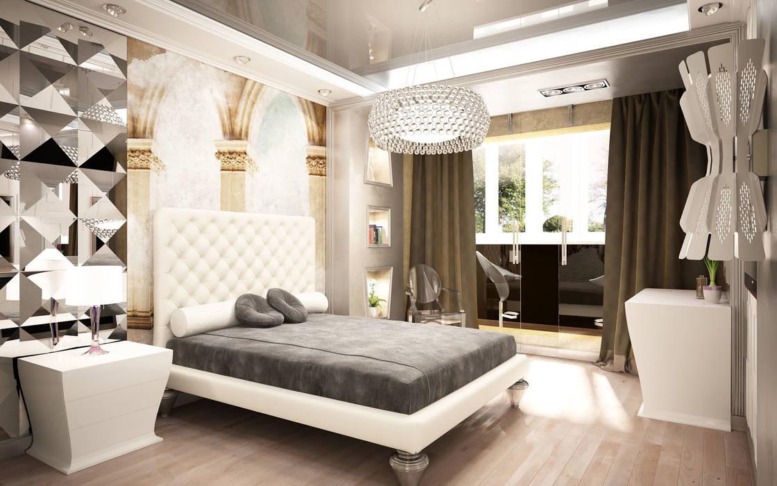 Dormitorios eclécticos de Anfilada Interior Design Ecléctico