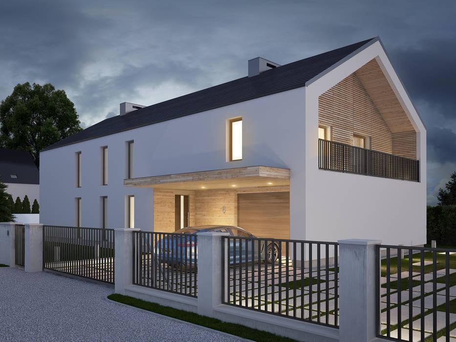 Casas estilo moderno: ideas, arquitectura e imágenes de Kunkiewicz Architekci Moderno