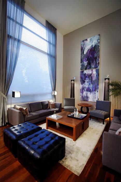 Casa Tecamachalco: Salas de estilo  por Concepto Taller de Arquitectura, Moderno