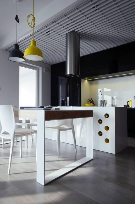 Mieszkanie Mokotów Skandynawska kuchnia od Devangari Design Skandynawski
