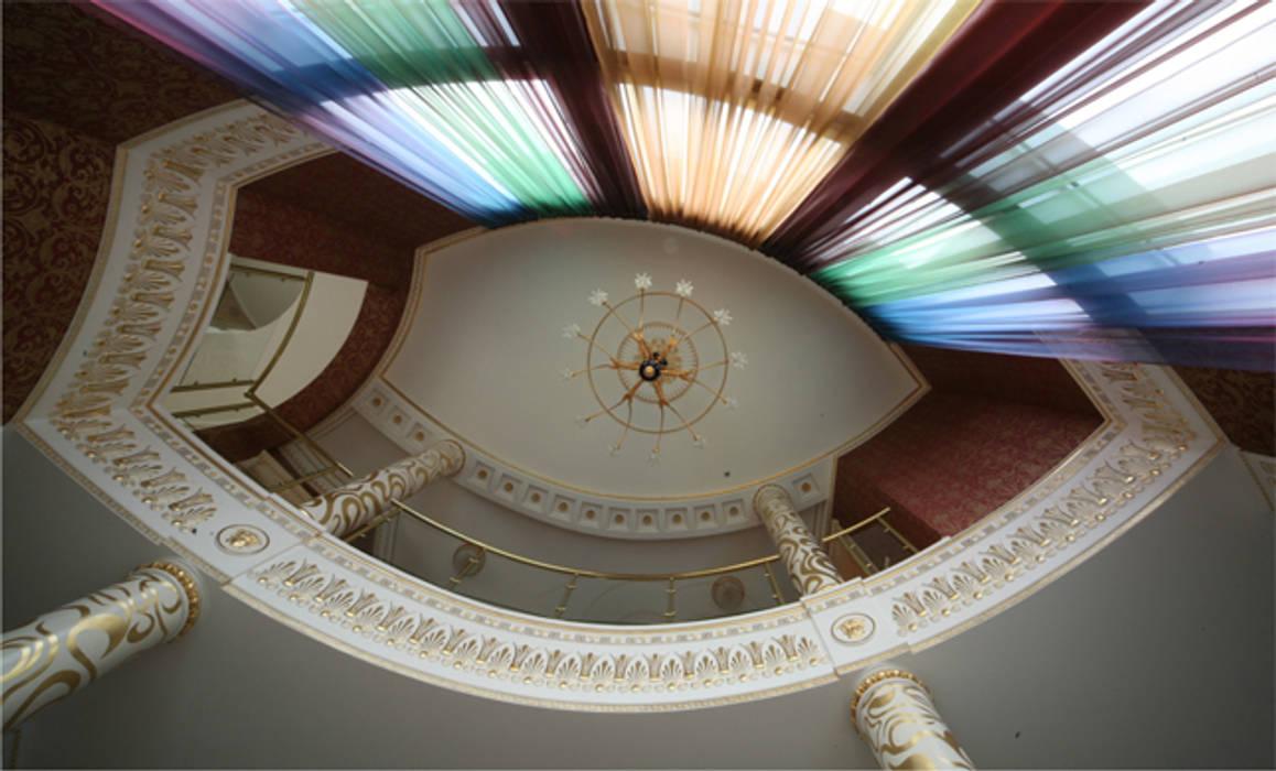 Prosperity Eclectic style corridor, hallway & stairs