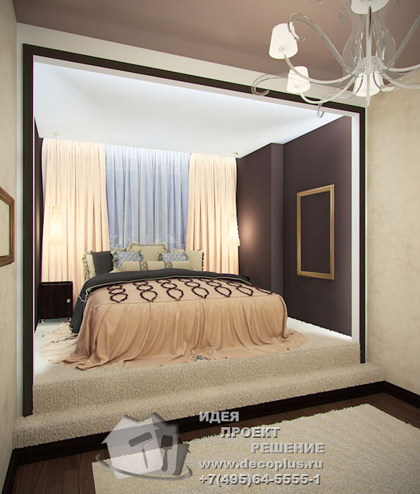 Дизайн интерьера спальни в светлых тонах: Спальни в . Автор – Бюро домашних интерьеров, Минимализм