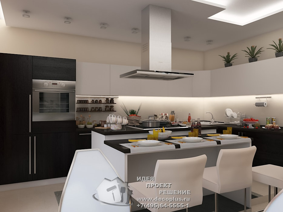 Дизайн кухни-столовой в стиле минимализм Кухня в стиле минимализм от Бюро домашних интерьеров Минимализм