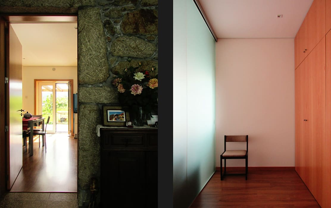 Country style corridor, hallway& stairs by EVA | evolutionary architecture Country