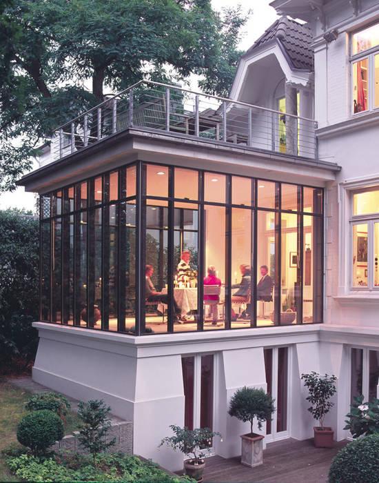 Wintergarten als Esszimmer v. Bismarck Architekt Klassische Häuser