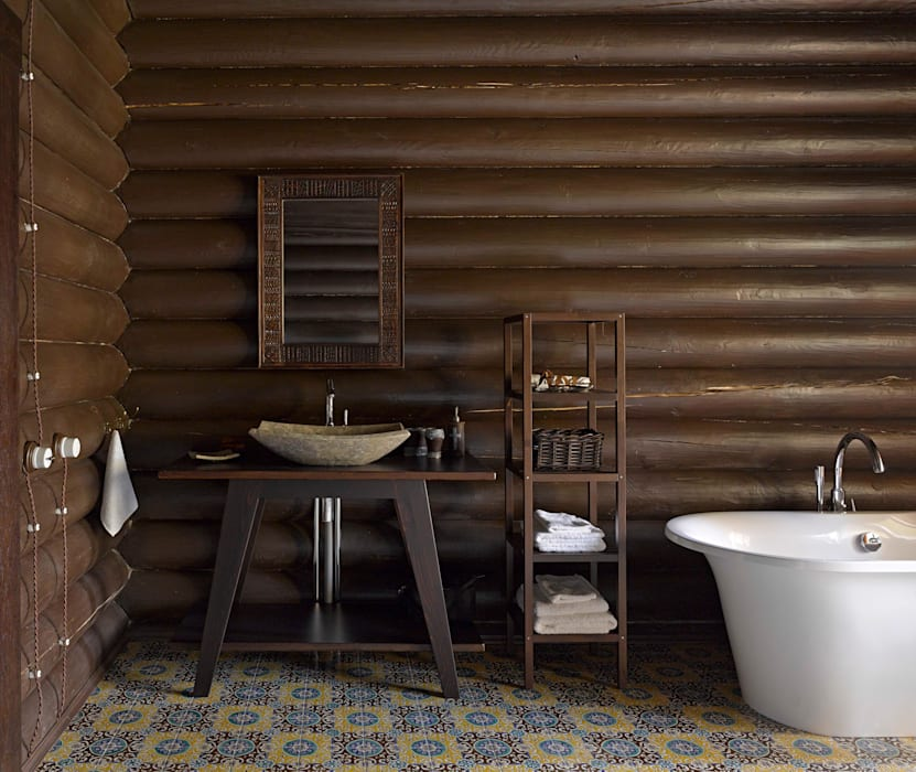 Rustic style bathroom by Lavka-design дизайн бюро Rustic