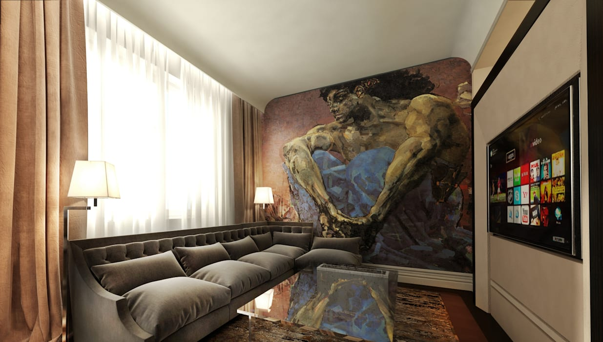 Living room by KOSHKA INTERIORS, Eclectic