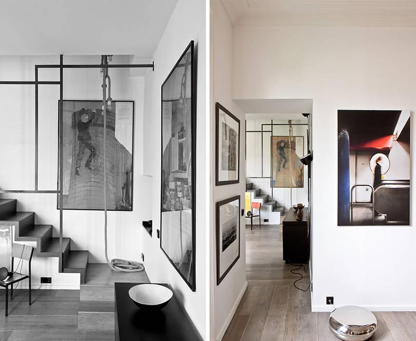 PARIS  GEORGES MANDEL     Crédit photo: Gilles Trillard pour Maison Française (sept. 2014): Couloir et hall d'entrée de style  par KTL Interiors  by Kareen Trager-Lewis