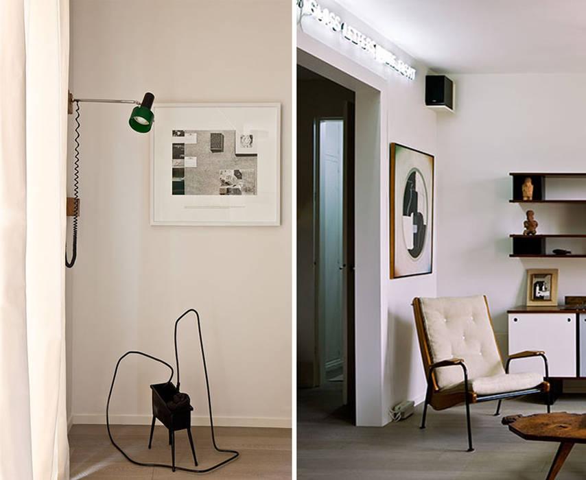 PARIS TROCADERO     Crédit photo:  Gilles Trillard pour ELLE DECO: Salon de style de style Minimaliste par KTL Interiors  by Kareen Trager-Lewis