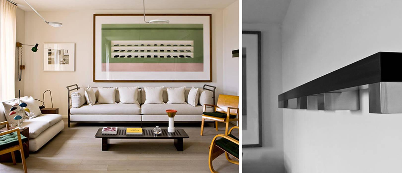 PARIS TROCADERO     Crédit photo:  Gilles Trillard pour ELLE DECO: Salon de style de style Moderne par KTL Interiors  by Kareen Trager-Lewis
